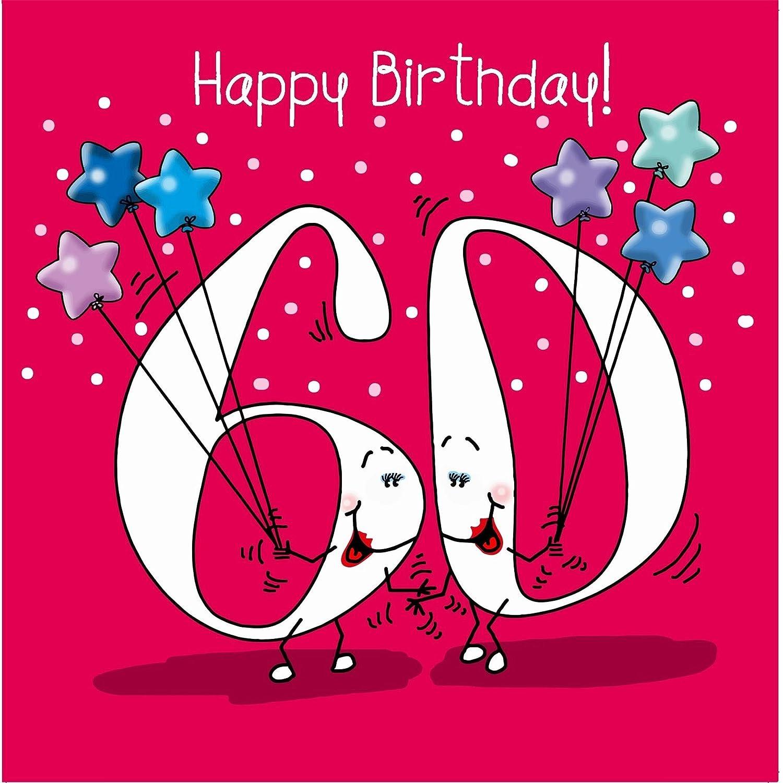 Feliz cumpleaños, 60 hoy hembra Tarjeta de felicitación ...