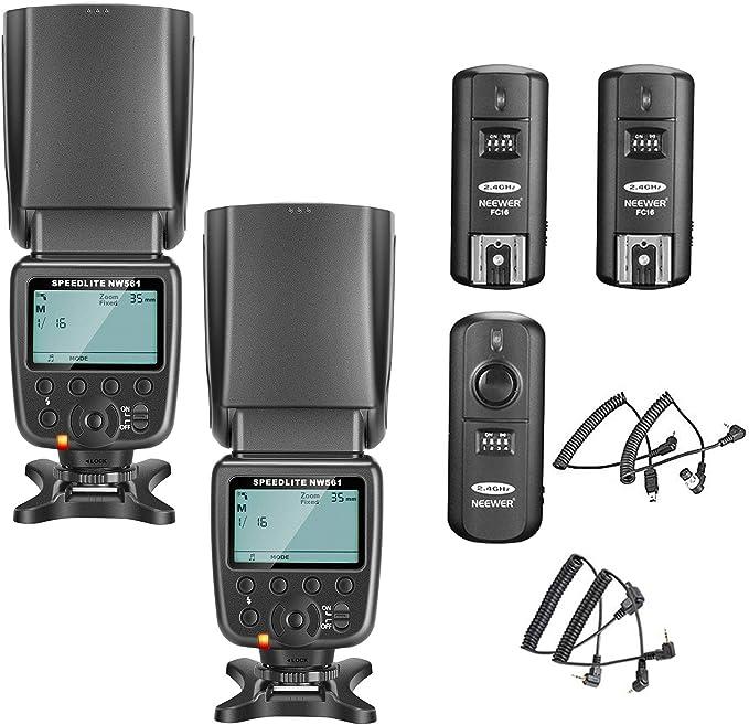 Neewer 2 Packs Nw561 Lcd Display Flash Speedlite Kit Kamera