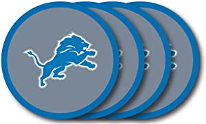 NFL Detroit Lions Vinyl Coaster Set (Pack of 4)