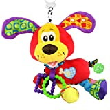 JENTXON Infant Toys Plush Puppy Soft Animal Toy with Teether Vibrating Tail for Baby Educational Development