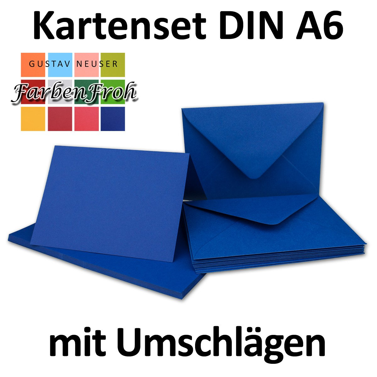 Faltkarten Set mit Brief-Umschlägen Brief-Umschlägen Brief-Umschlägen DIN A6   C6 in Rosanrot   100 Sets   14,8 x 10,5 cm   Premium Qualität   Serie FarbenFroh® B07B11GTDT | Perfekt In Verarbeitung  7ec6d9