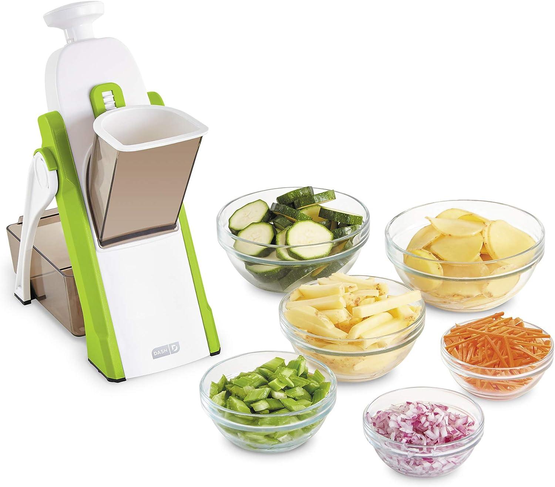 DASH Safe Slice Mandoline for Vegetables, Meal Prep & More with 30+ Presets & Thickness Adjuster, Green