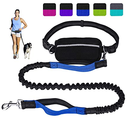 Leashes Dog Collars & Leads New Dog Leashes Pet Training New Adjustable Hands Free Leash Dog With Waist Belt For Jogging Walking Running Traveling