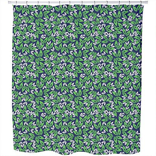 Uneekee Leaf On Leaf Shower Curtain: Large Waterproof Luxurious Bathroom Design Woven Fabric by uneekee