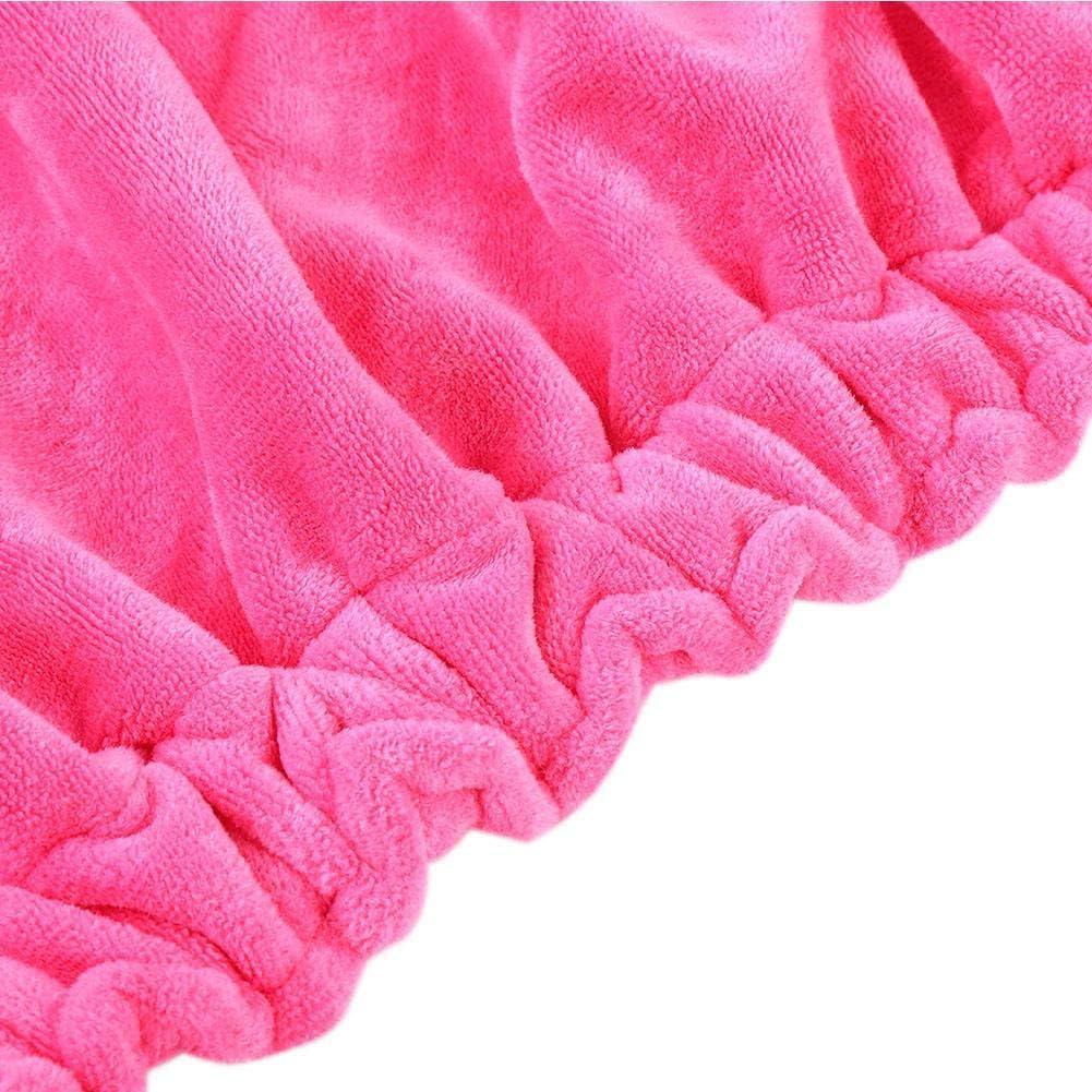 Enveloppe De Serviette De Spa Et De Bain Rose Serviette De Bain /à La Mode Pour Femmes Avec Fermeture R/éGlable Et Enveloppe /éLastique Spa /à S/éChage Rapide