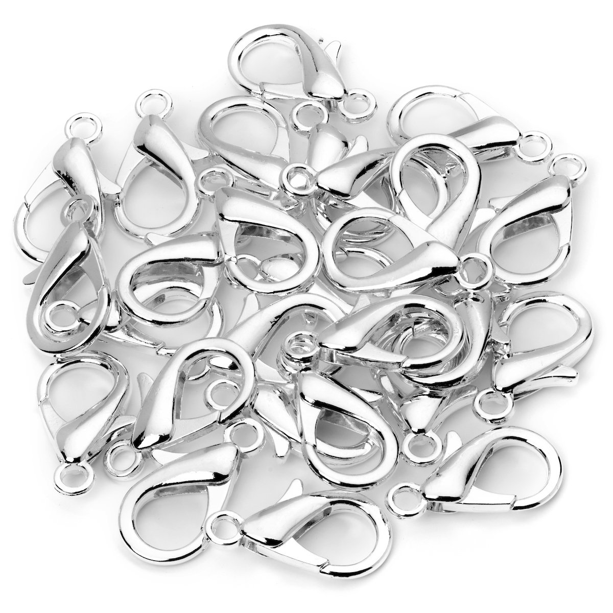 14x7 100 Lobster Clasps Gold Plated Lobster Claw clasps Jewelry Making Findings Lead /& Nickel Free