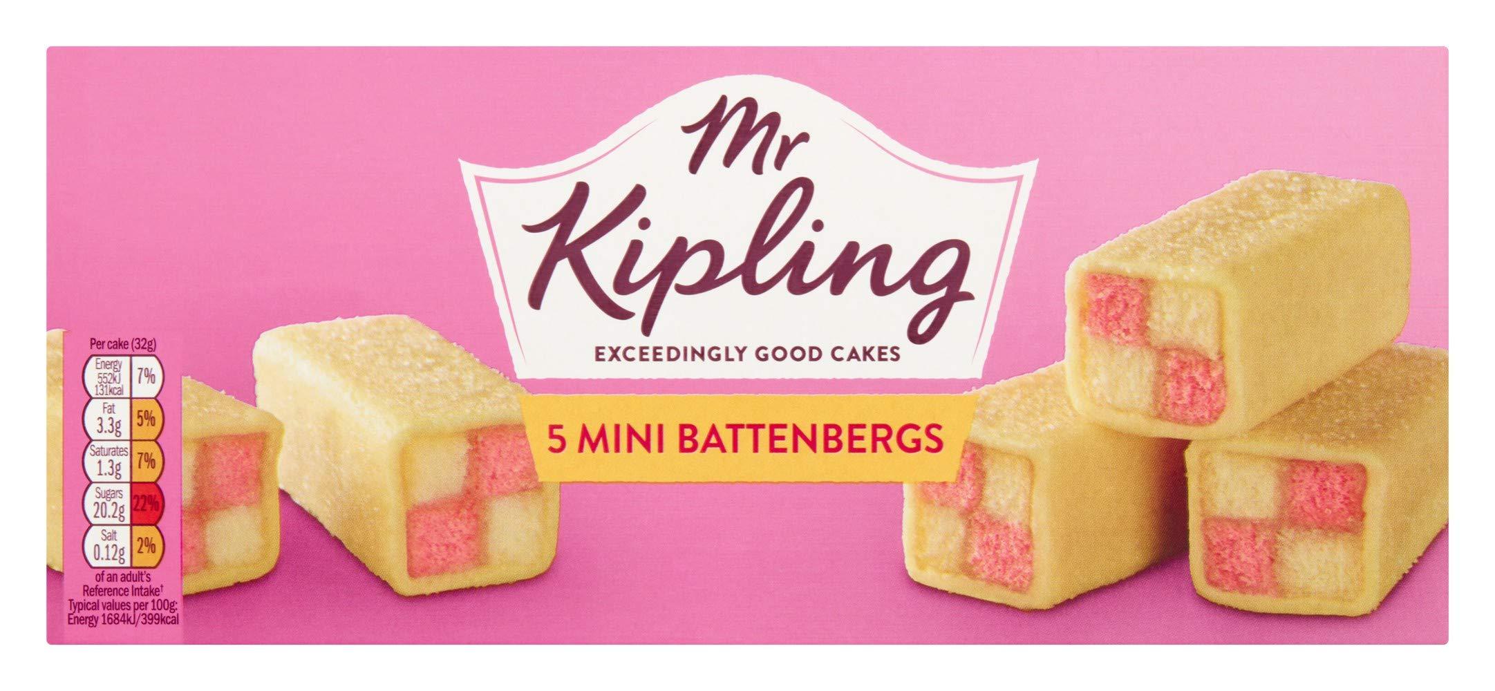 Mr Kipling Mini Battenberg Cakes 5pk