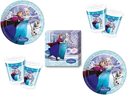 52 Pieces Snow Queen Ice Skating Party Decorative Set - For 16 Children