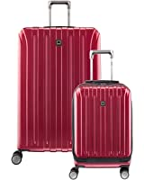 Delsey Luggage Helium Titanium Carry on and 29 Spin Lug