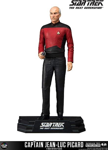 """Capitaine Jean Luc Picard 7/"""" Figurine avec accessoires par McFarlane Toys Star Trek"""