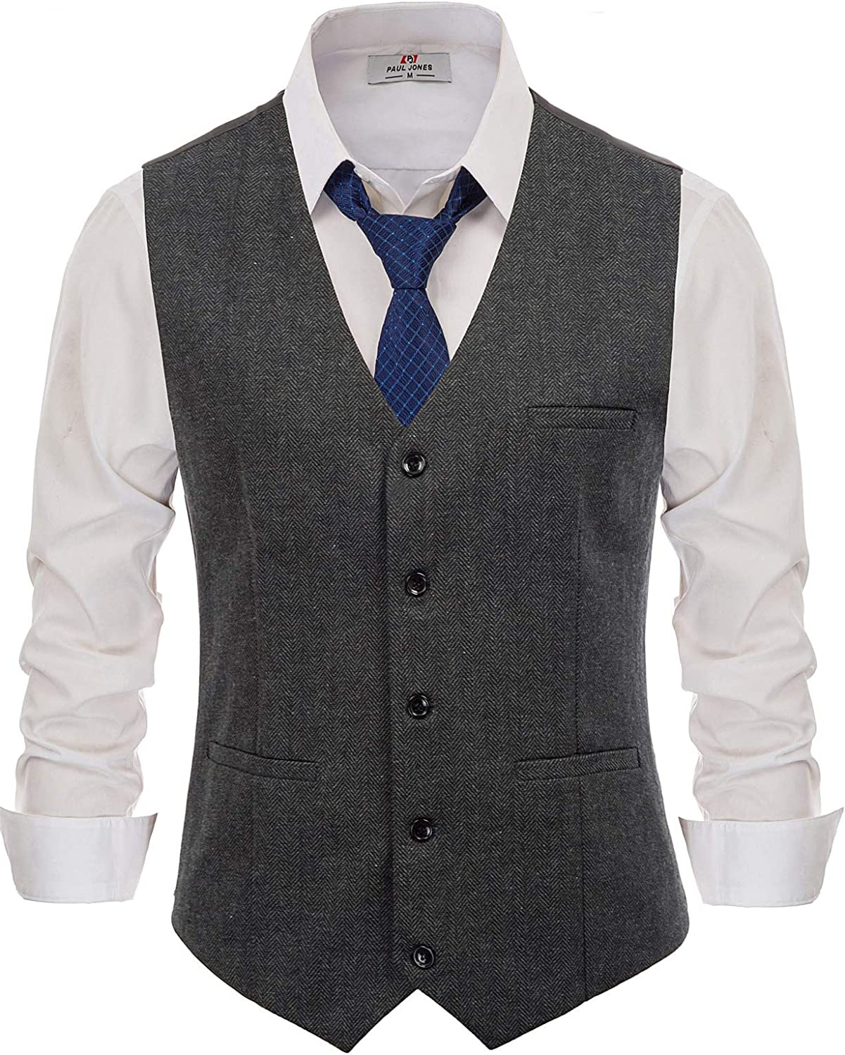 1940s UK and Europe Men's Clothing – WW2, Swing Dance, Goodwin PaulJones Mens Business Sleeveless Lapel Collar 4-Buttons Suit Vest £24.99 AT vintagedancer.com