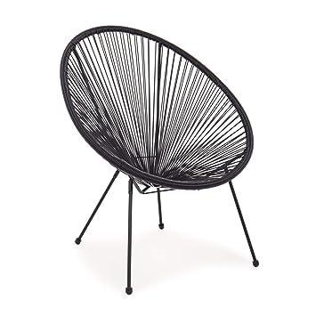 ARREDinITALY - Juego de 4 sillones para Exterior de Metal ...