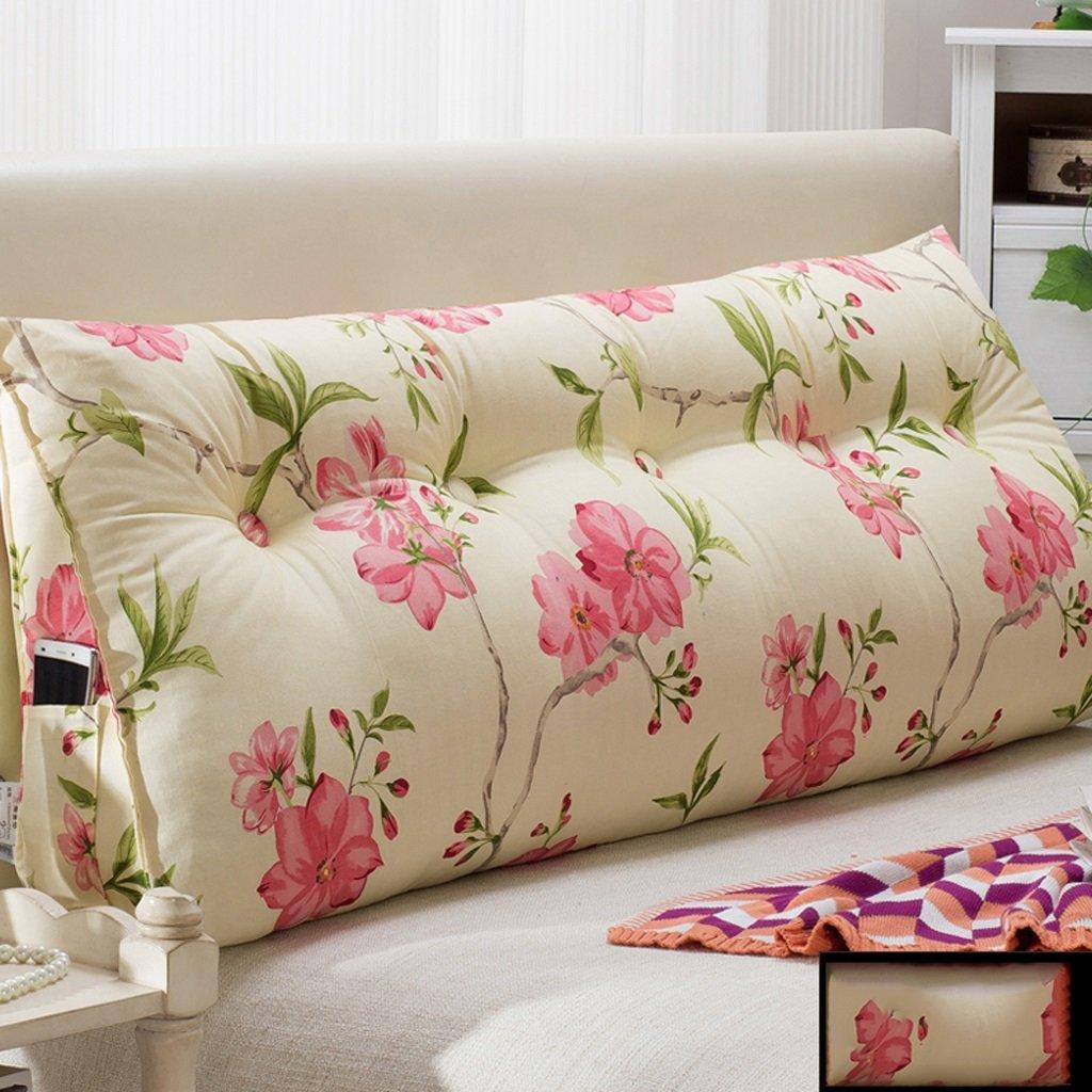 WOFULL Oreiller lit double - coussin dorsal - amovible - chevet - canapé - bureau - disponible pour la taille - oreiller