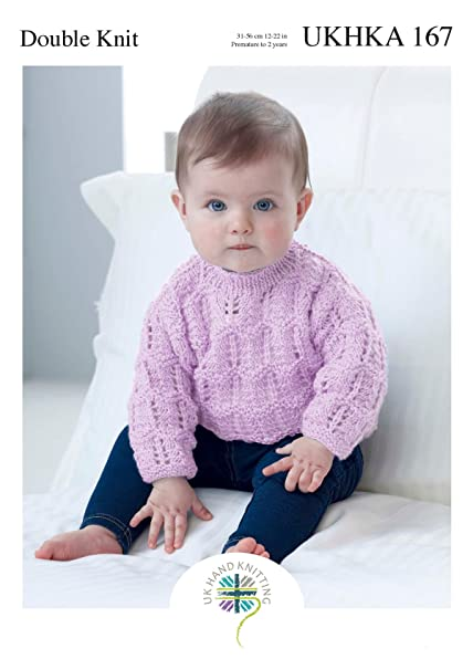 Amazon Ukhka Double Knitting Pattern For Baby Lace Detail V