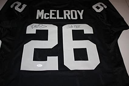 223bc5c32 Image Unavailable. Image not available for. Color  OAKLAND RAIDERS VANN  MCELROY  26 SIGNED HOME JERSEY ...