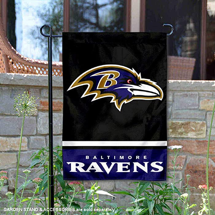 WinCraft Baltimore Ravens Double Sided Garden Flag