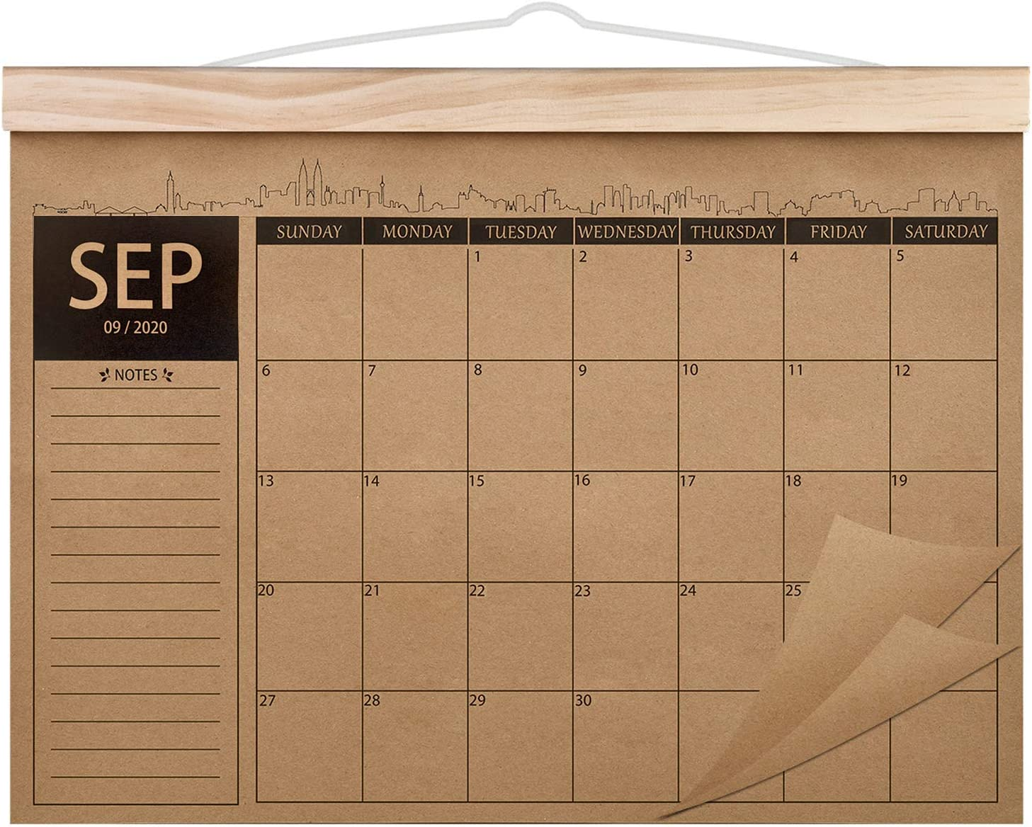 "2020-2022 Calendar - 18 Monthly Academic Desk or Wall Calendar Planner, Thick Kraft Paper Perfect for Organizing & Planning, September 2020 - February 2022, 12.2""x16.5"" - Norjews"
