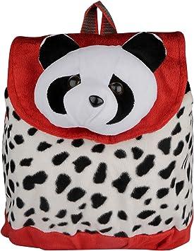 New Rakshak Panda Cartoon School Bag for Kids/Baby/Boys/Girls (Red and White) by Lovely Toys