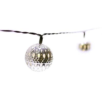 """'Guirlande """"Leia–LED Guirlande, intérieur et extérieur, blanc chaud avec panneau solaire et batterie–Oriental Style–Idéal comme éclairage jardin Guirlande lumineuse Guirlande lumineuse/lampe de jardin/jardin lumière/Déc"""