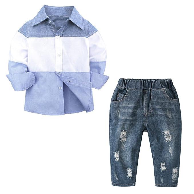 Amazon.com: Conjunto de ropa de manga larga para bebés de 1 ...