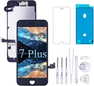 VANYUST for iPhone 7 Plus Screen Replacement LCD Display Touch Digitizer with Front Camera and Earpiece Compatible for iPhone 7 Plus 5.5 inch Black