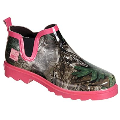 f90f82bc8123 Realtree Girl Women s Ms. Gi Gi Rain Boots Green Pink Camo ...