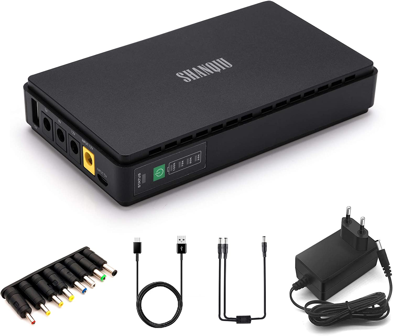 Sistema de Alimentacion Ininterrumpida Mini UPS para Enrutador, Módem, Videocámara, y móvil con 8800mAH Batería Entrada 12V DC 5V USB Salida 5V 9V 12V 2A DC