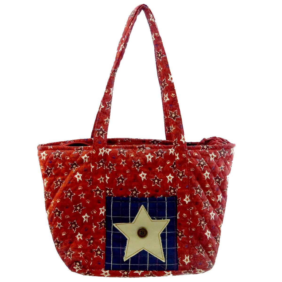 BOYDS BEARS PLUSH MARTHAS STARS STRIPES TOTE Fabric Americana Accessory 904905