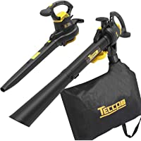 Teccpo 3-in-1 Leaf Blower Vacuum 3 in 1 Corded Electric Two-Speed Professional