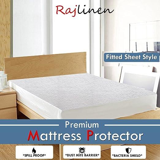 Bamboo Matress Protector Premium Waterproof Mattress Cover Cotton Short Queen