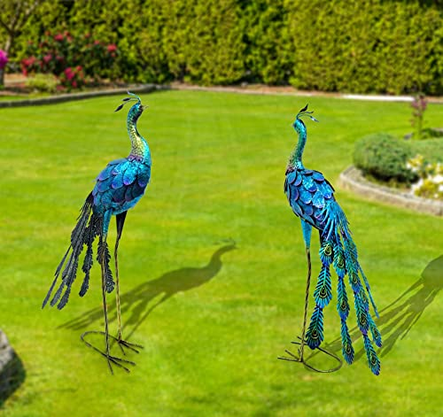CYA-DECOR Garden Peacock Statue and Sculpture