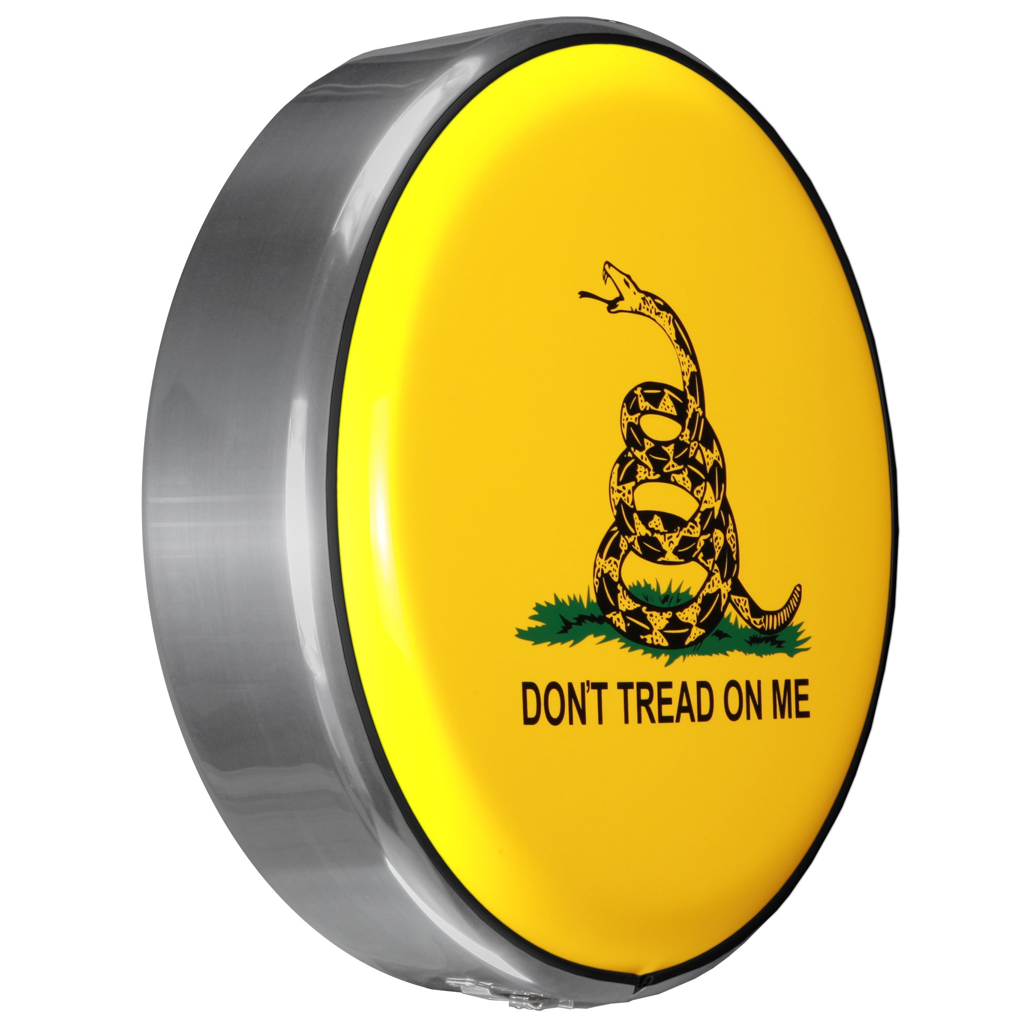 MasterSeries - Continental Tire Cover Kit (225/75R16 ) - (Molded Plastic Face & Polished Stainless Ring) - Don't Tread On Me Print (Gadsden Flag)
