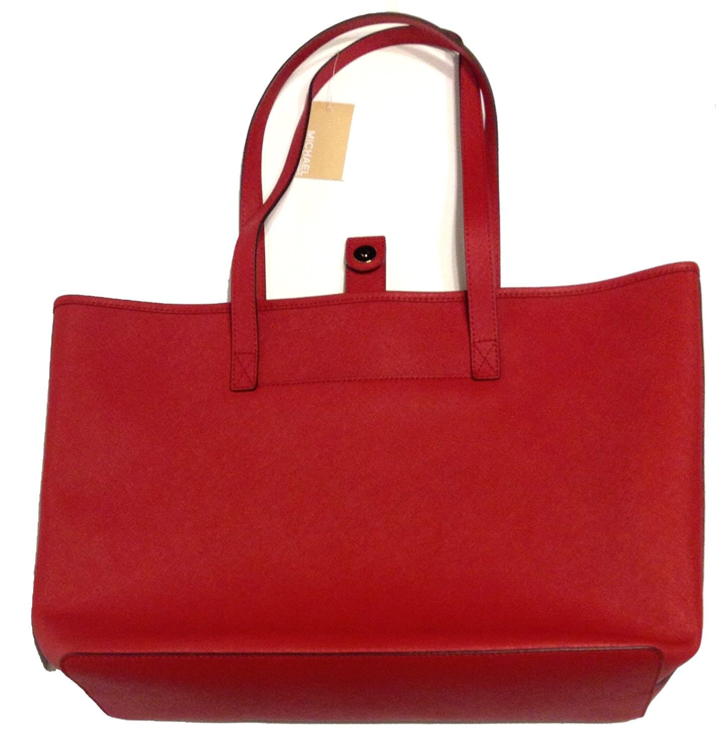 df99e522027a39 Amazon.com: Michael Kors Jet Set Travel Medium Leather Tote Red: Shoes