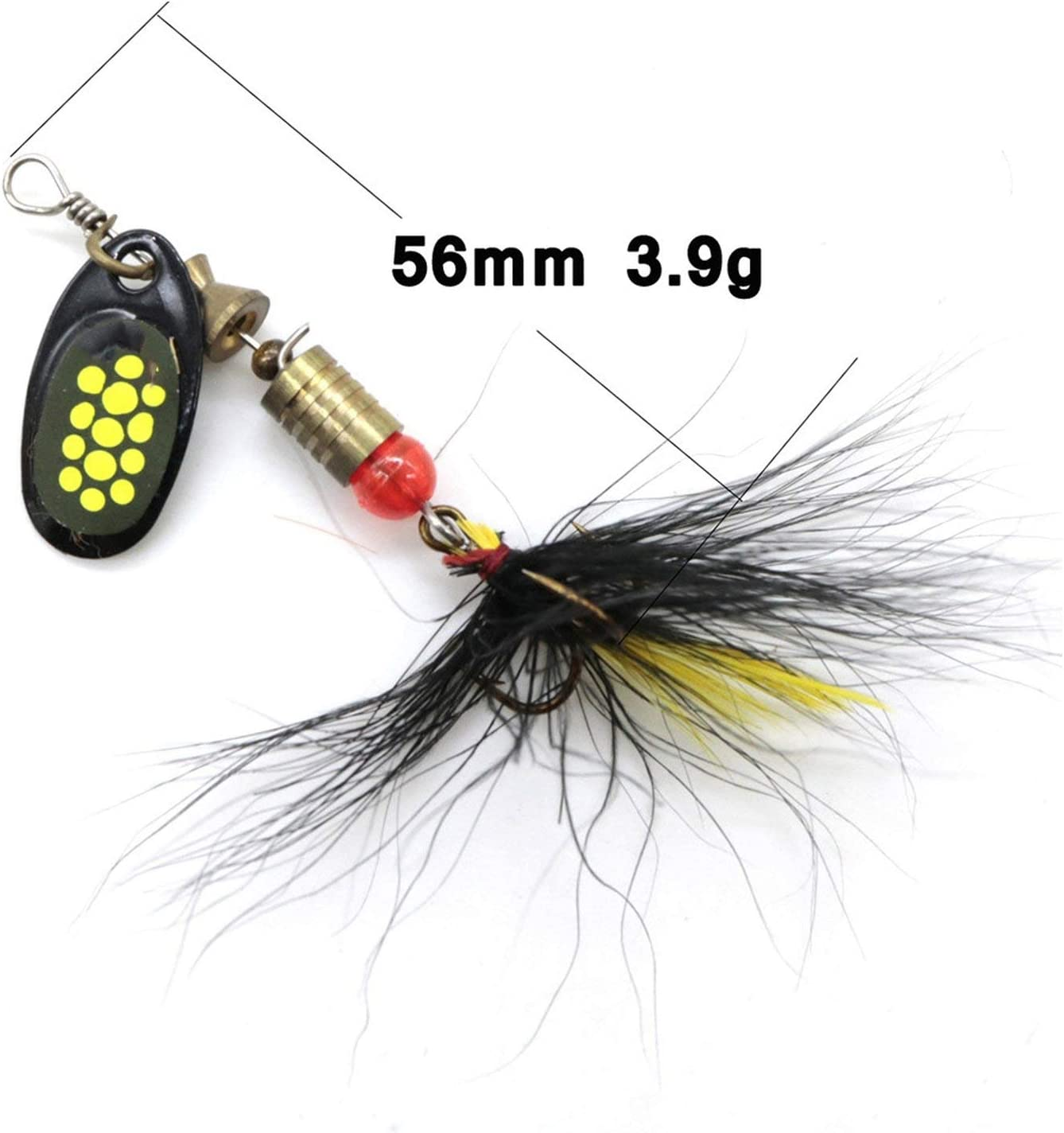 Miracle day Peche 1pcs Fishing Lures Trout Spoon Metal Spinners Baits for Jig Fly Fishing Baits Sea Hard Lures with Feather Hooks Pesca