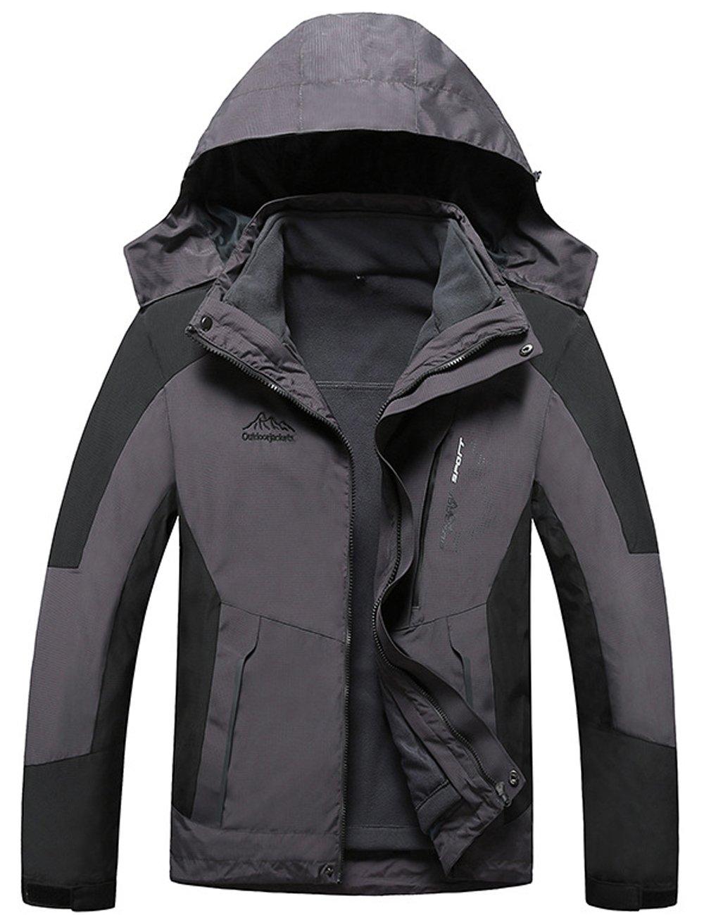 Menschwear OUTERWEAR メンズ B076KJPYPT 3L|Black 8820 Black 8820 3L