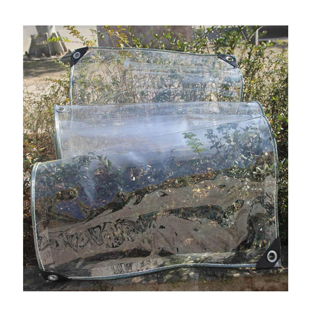 CLEAR 1.9X3.9M Zhanghongshop BÂche épaisse bÂche de Prougeection en Plastique imperméable Feuille de Prougeection en Plein air Temps extrême Extreme Duty Polyvalent (Couleur   Clear, Taille   1.3X3.9M)