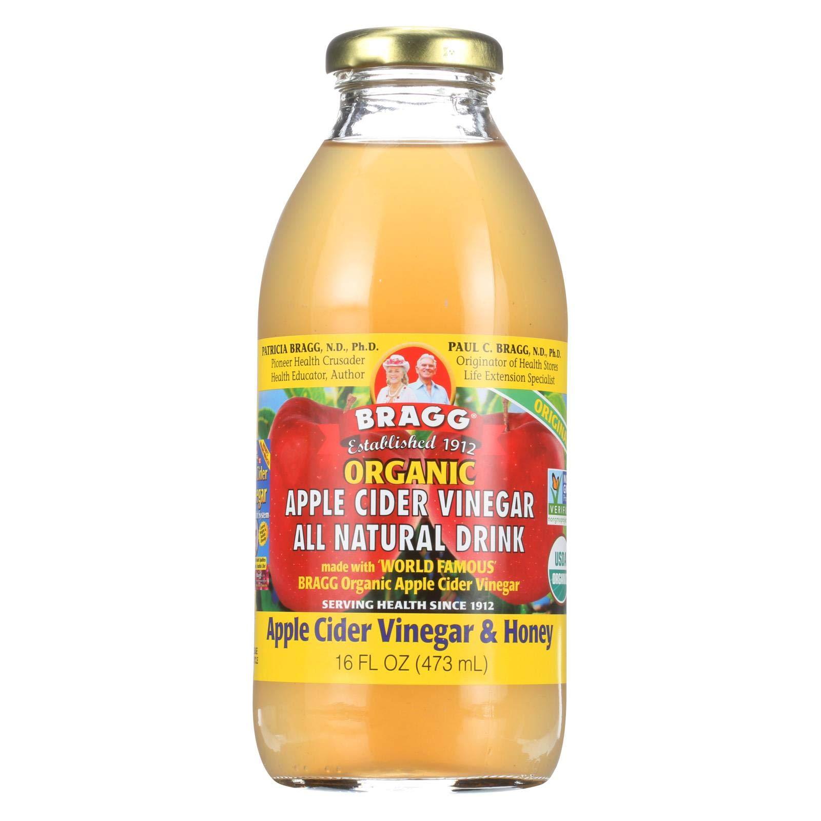 Bragg Organic ACV/Honey Apple Cider Vinegar Drink, 16 Ounce -- 12 per case. by Bragg