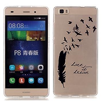 TPU Silicona Funda Carcasa para el Movil Huawei P8lite/Huawei ALE-L21 Bumper Case Cover