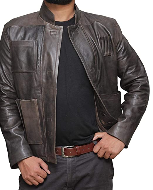 49dc51c83 Brown Mens Leather Jacket - Genuine Lambskin Distressed Leather Jackets for  Men