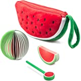 Watermelon Pencil Case Two Big Pockets with Double Zippers,Set of 3
