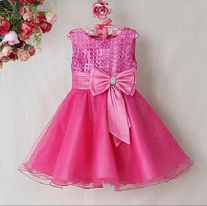 Vestido de dama de honor diseño floral de color crema, para niña ...