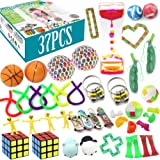 Fidget Toys Set, pingqian 37Pcs Stress Relief Hand Toys for Adults Kids ADHD ADD Anxiety Autism, Stretchy String/Finger Skate