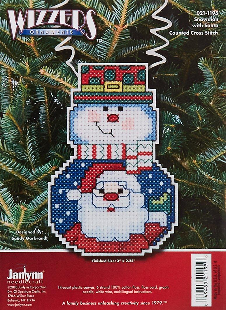 Janlynn Cross Stitch Kit Snowman with Tree