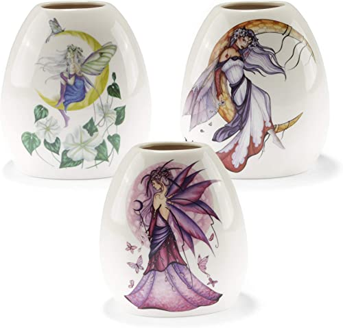 Fairysite Dragonsite Jessica Galbreth Assorted Porcelain Vases Small – EADV – 3 Pack Assorted