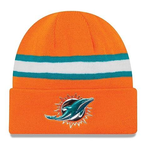 93c8ddbf5 Amazon.com   Miami Dolphins New Era Aqua Color Rush On-field Knit ...