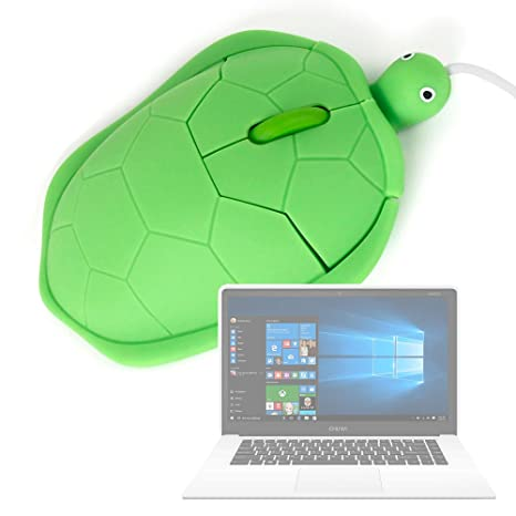 DURAGADGET Ratón con Forma De Tortuga para Portátil Chuwi LapBook Air/InnJoo LeapBook A100 / Prixton Netbook 10.1: Amazon.es: Electrónica