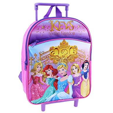 Amazon.com | Disney Princess Rolling Backpack - 12
