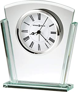 Howard Miller Granby Table Clock 645-781 – Modern Glass with Quartz Alarm Movement