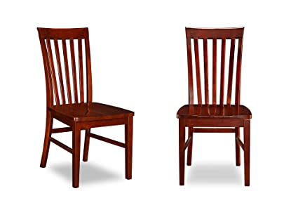 Atlantic Furniture Mission Dining Chairs, Set of 2, Antique Walnut - Amazon.com - Atlantic Furniture Mission Dining Chairs, Set Of 2