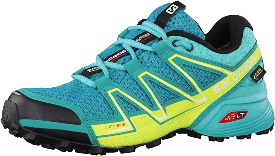 Salomon Speedcross Vario GTX W, Zapatillas de Trail Running para Mujer, Azul (Deep Peacock Blue/Ceramic/Lime Punch), 36 EU: Amazon.es: Zapatos y complementos
